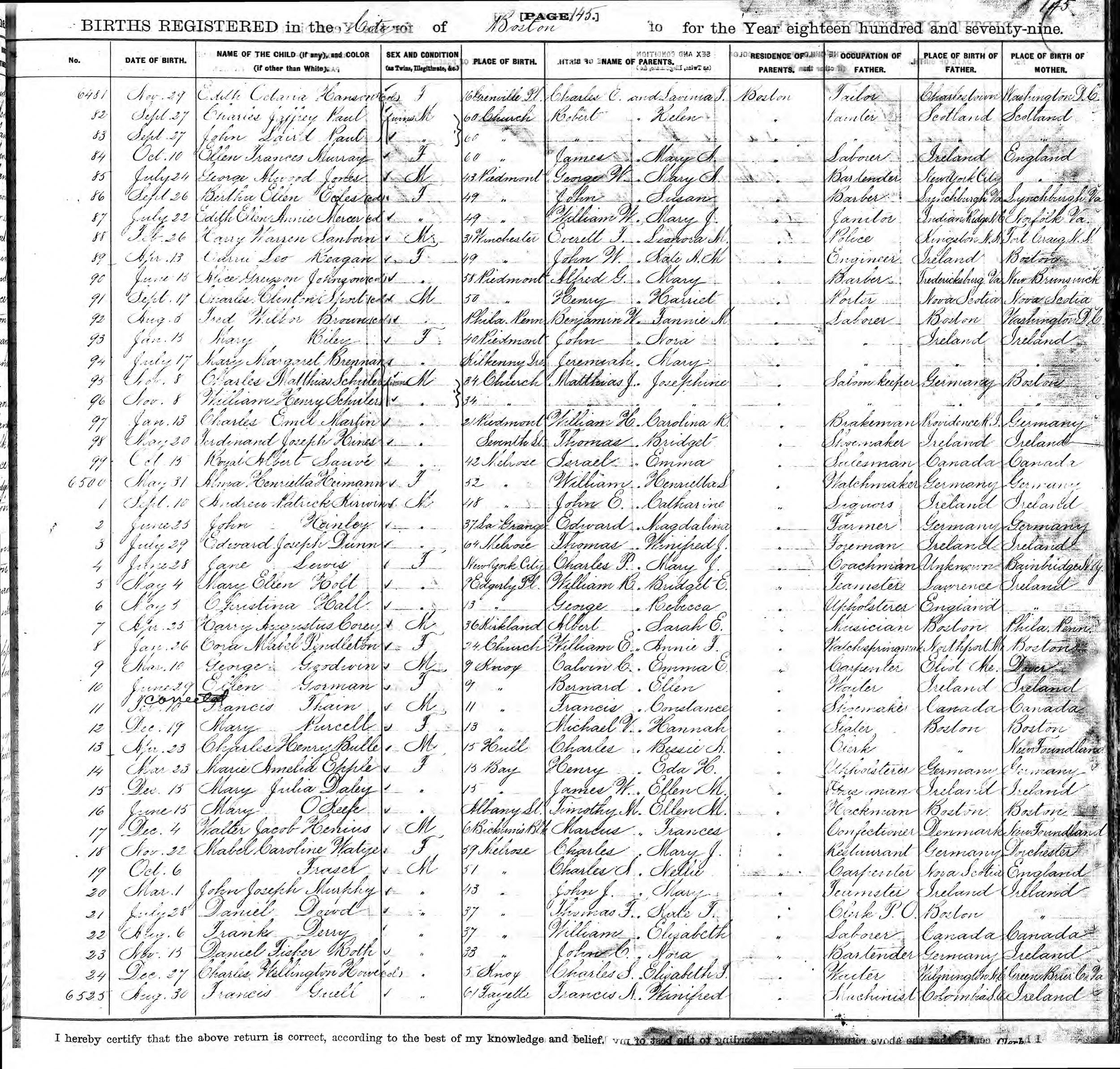 Documents Schuler William Sr And Charles Mathias Birth